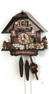 "Kuckucksuhr 1-Tag-Werk ""Holzhackerhaus"""