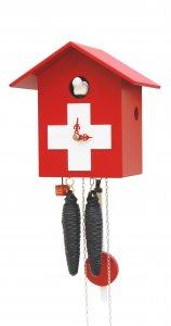 """Moderne Kuckucksuhr 1-Tag-Werk """"Schweizer Haus"""""""