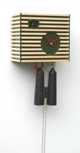"""Moderne Kuckucksuhr 8-Tage-Werk """"Bauhaus-Stil - grün"""""""