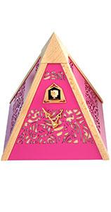 "Moderne Quarz-Kuckucksuhr ""Pyramide Pink"""