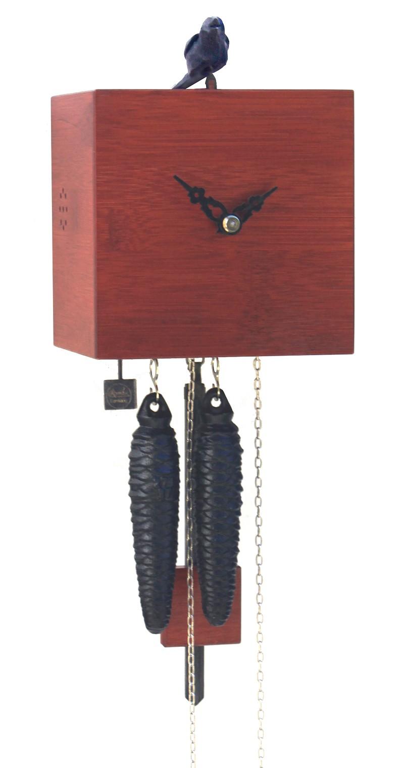 moderne kuckucksuhr 1 tag werk bambus. Black Bedroom Furniture Sets. Home Design Ideas
