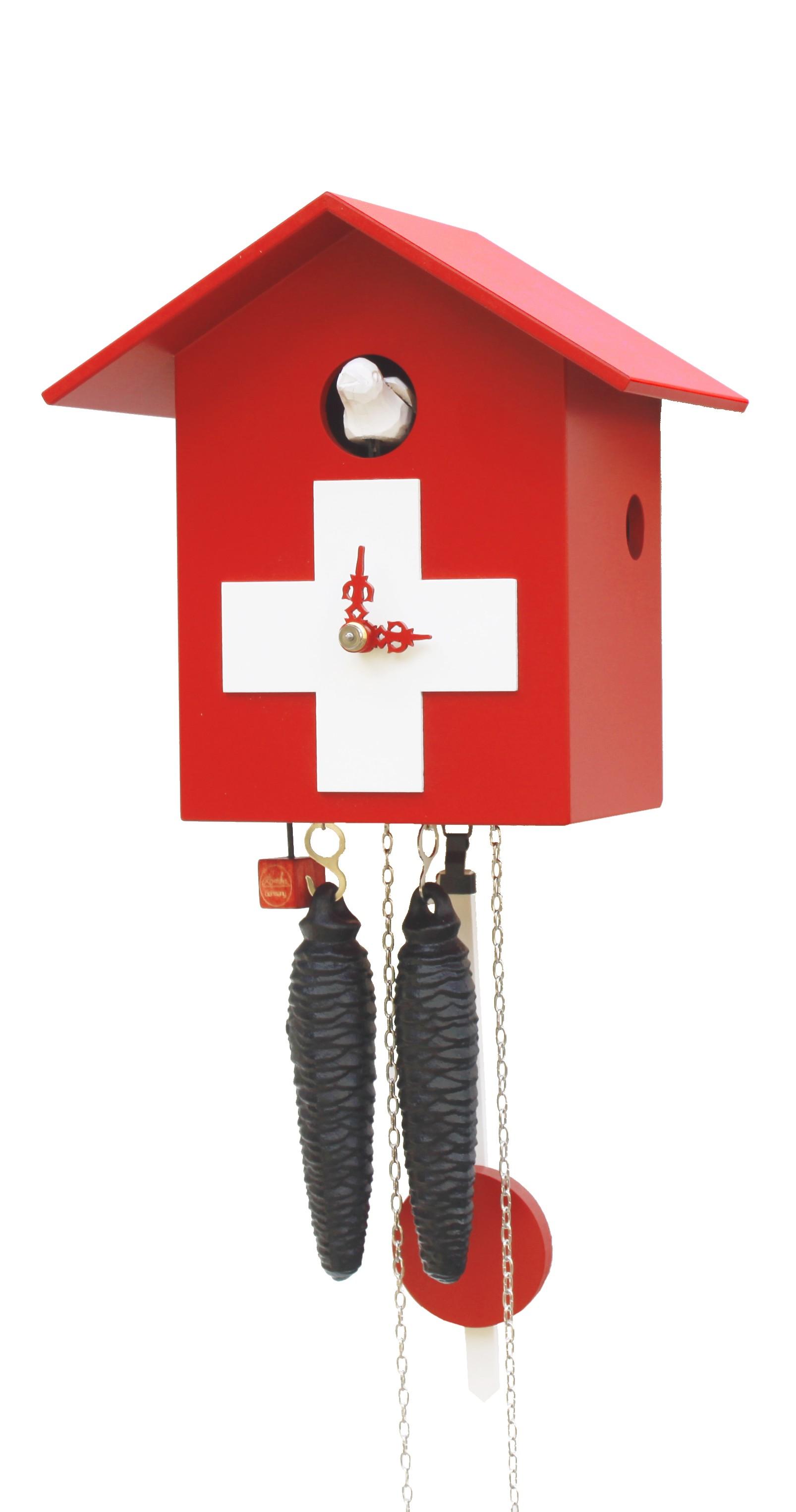Moderne kuckucksuhr 1 tag werk schweizer haus for Moderne kuckucksuhren